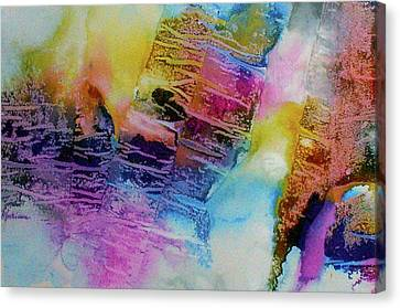 Canvas Print featuring the painting Rhythm And Blues by Mary Sullivan