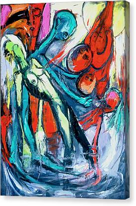 Rhythmic Merger Of Life And Spirit Canvas Print by Kenneth Agnello