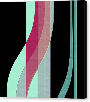 Ribbons Canvas Print by Bonnie Bruno