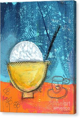 Rice And Tea Canvas Print by Linda Woods