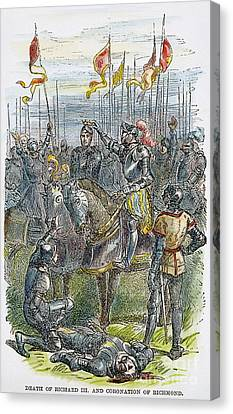 Richard IIi At Bosworth Canvas Print by Granger