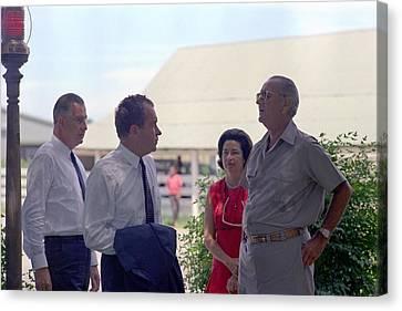 Richard Nixon And Spiro Agnew Visit Canvas Print by Everett