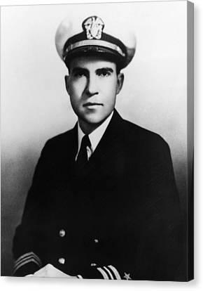 Richard Nixon. Navy Lieutenant Canvas Print by Everett