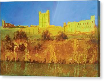 Hills Canvas Print - Richmond Castle In Gold by Neil McBride