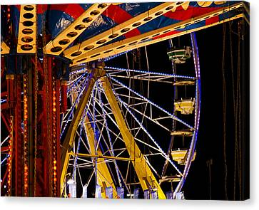 Canvas Print featuring the photograph Rides by Michael Friedman
