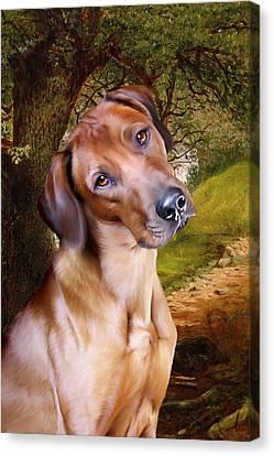 Ridgeback Woodland Canvas Print by Julie L Hoddinott