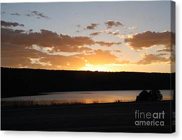 Ridgway Reservoir Sunset Canvas Print by Marta Alfred