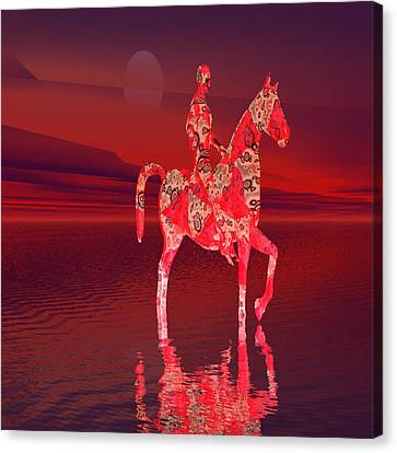 Riding At Dusk Canvas Print by Matthew Lacey