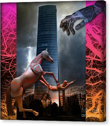 Canvas Print featuring the photograph Riding  The Phallus Dream by Rosa Cobos