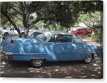 Right View 1956 Cadillac Canvas Print by Linda Phelps