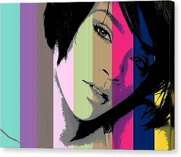Rihanna 2 Canvas Print by Chandler  Douglas