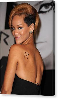 Rihanna At In-store Appearance Canvas Print by Everett