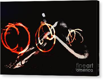 Canvas Print featuring the photograph Burning Rings Of Fire by Clayton Bruster