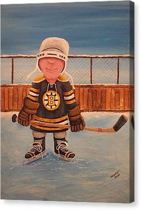 Rinkrattz - Jonny - Boston  Canvas Print by Ron  Genest