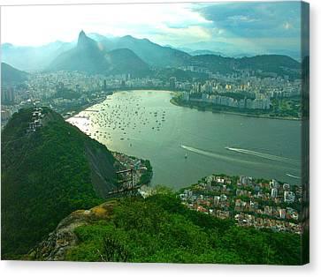Rio De Janiero. Breathtaking  Canvas Print by Michael Clarke JP