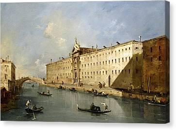 Rio Dei Mendicanti Canvas Print by Francesco Guardi