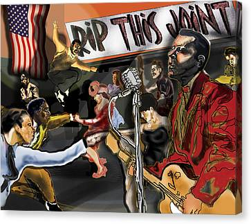 Rip This Joint Canvas Print by David Fossaceca