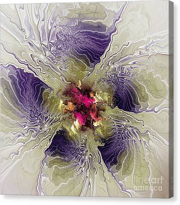 Rippled Petals Canvas Print by Deborah Benoit