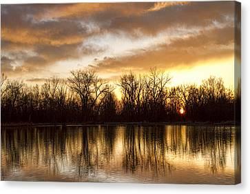 Rising Sun At Crane Hollow Canvas Print by James BO  Insogna