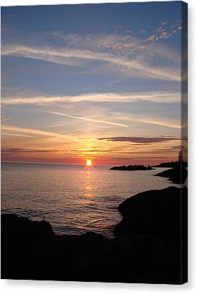 Canvas Print featuring the photograph Rising Sun by Bonfire Photography