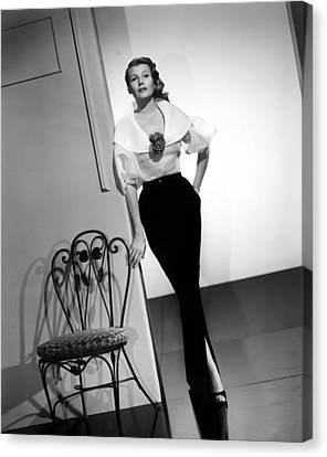 Rita Hayworth, Columbia Pictures, 1956 Canvas Print