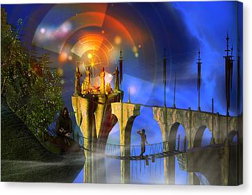 Canvas Print featuring the digital art Rite Of Passage by Shadowlea Is