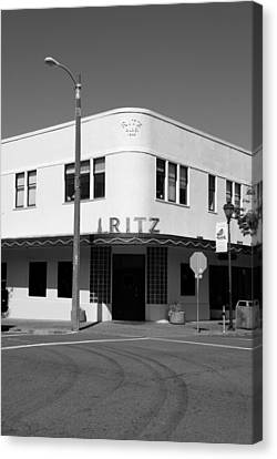 Ritz Building Eureka Ca Canvas Print by Kathleen Grace