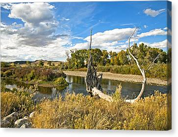 River At Hudson Wy. Canvas Print by James Steele