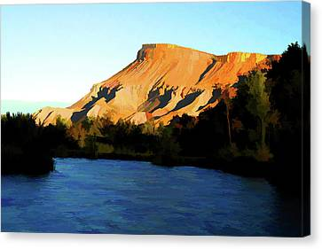 Canvas Print featuring the digital art River Bend by Brian Davis
