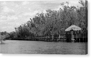 Canvas Print featuring the photograph River Boardwalk by Bill Lucas
