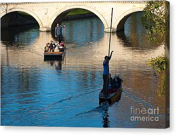 River Cam Traffic Canvas Print by Andrew  Michael
