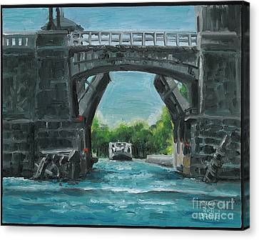 River Charles Canvas Print by Rich Arons