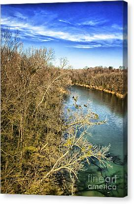 Canvas Print featuring the photograph River Crossing Virginia by Jim Moore