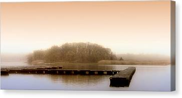 River Fog Canvas Print by Karen Lynch