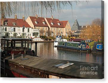 Canvas Print featuring the photograph River Great Ouse by Andrew  Michael