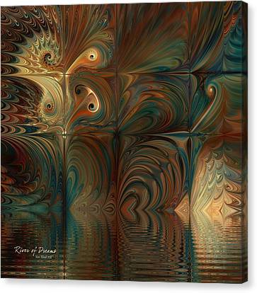 Canvas Print featuring the digital art River Of Dreams by Kim Redd