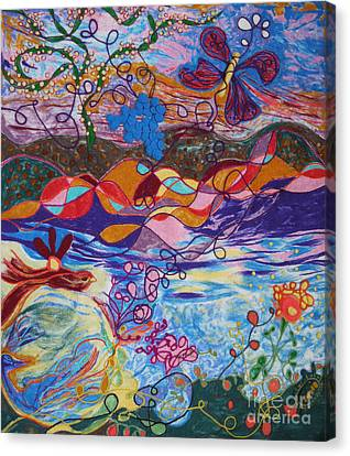 River Of Life Canvas Print by Heather Hennick