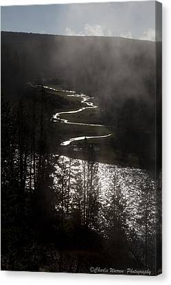 River Of Silver Canvas Print by Charles Warren