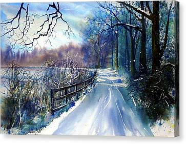 River Ouse In Winter Canvas Print