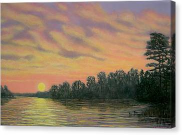Canvas Print featuring the painting River Reflections by Kathleen McDermott