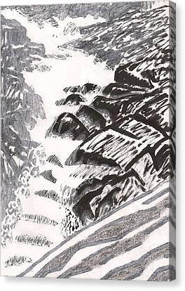River Road Spring Roar Monterey Ma Canvas Print by Al Goldfarb