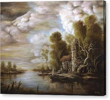 River Scene 4 Canvas Print by Dan Scurtu