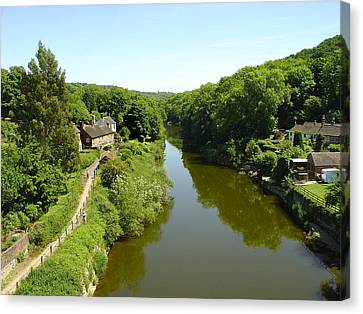 River Severn From The Iron Bridge Canvas Print by Rod Johnson