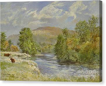 River Spey - Kinrara Canvas Print by Tim Scott Bolton