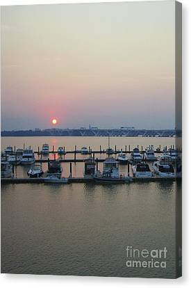 Canvas Print featuring the photograph River Sunset by Michael Waters