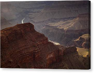 River Through The Canyon Canvas Print by Andrew Soundarajan