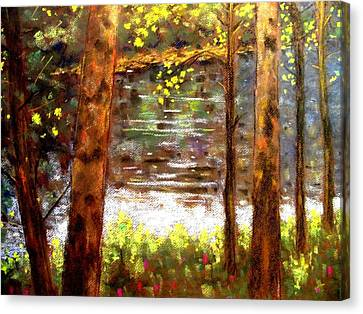 Giclee Trees Canvas Print - River Trees by John  Nolan