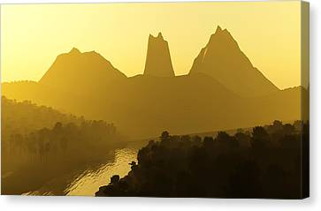 River Valley Canvas Print by Svetlana Sewell