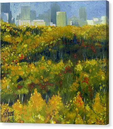 River Valley Yeg Canvas Print