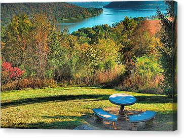 River View Iv Canvas Print by Steven Ainsworth